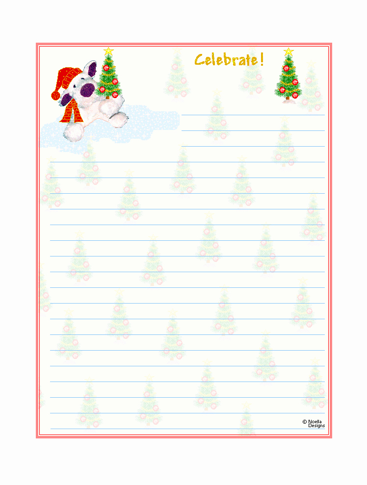 Free Printable Lined Stationery Unique Free Printable Christmas Stationary