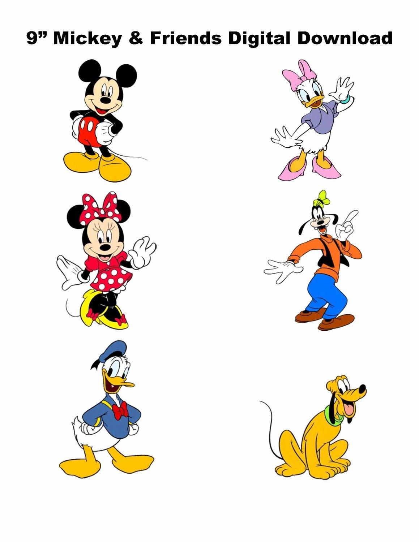 9 digital mickey and friends