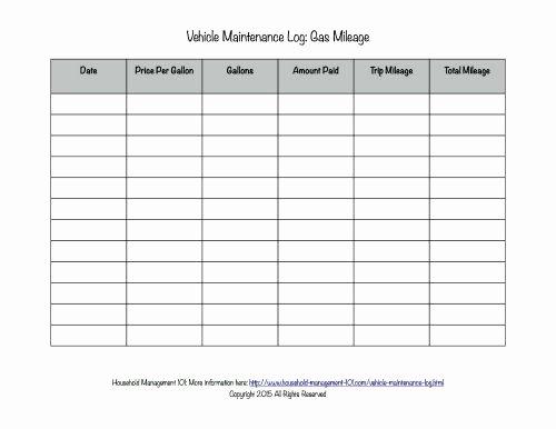 Free Printable Mileage Log Beautiful Free Printable Vehicle Maintenance Log why You Should