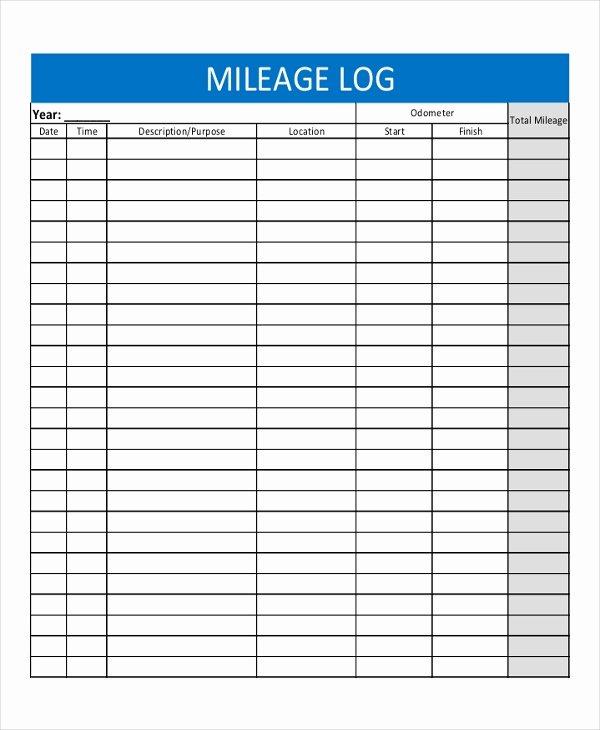 Free Printable Mileage Log Inspirational 13 Log Templates Free Sample Example format