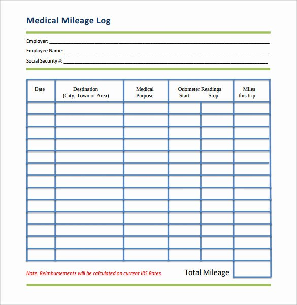 Free Printable Mileage Log New Mileage Log Template 14 Download Free Documents In Pdf Doc