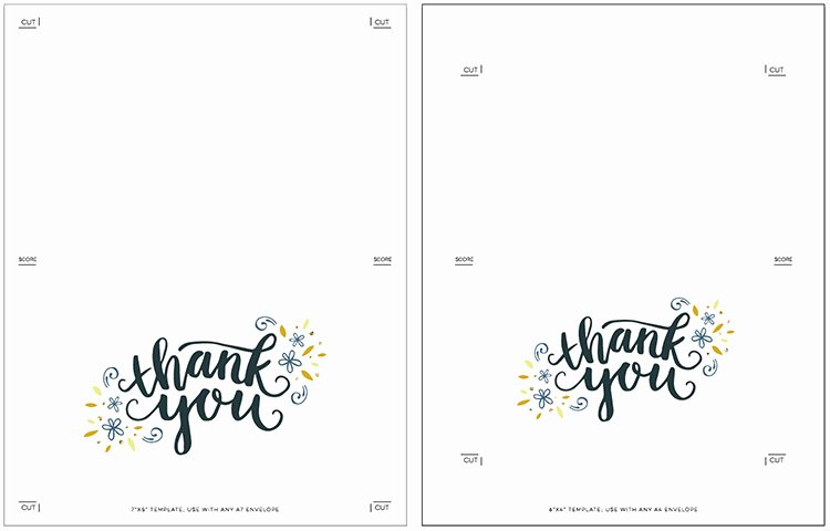 Free Printable Note Card Template Inspirational Freebie Printable Thank You Card
