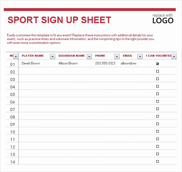 Free Printable Snack Sign Up Sheet Elegant Sign Up Sheet Template 10 Free Samples Examples format