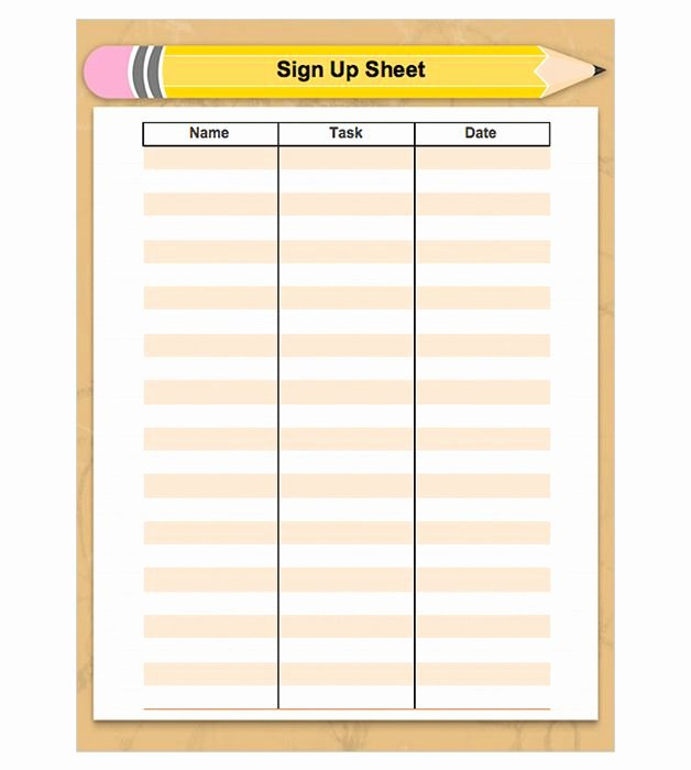 Free Printable Snack Sign Up Sheet Unique 15 Best Images About Sign Ups On Pinterest