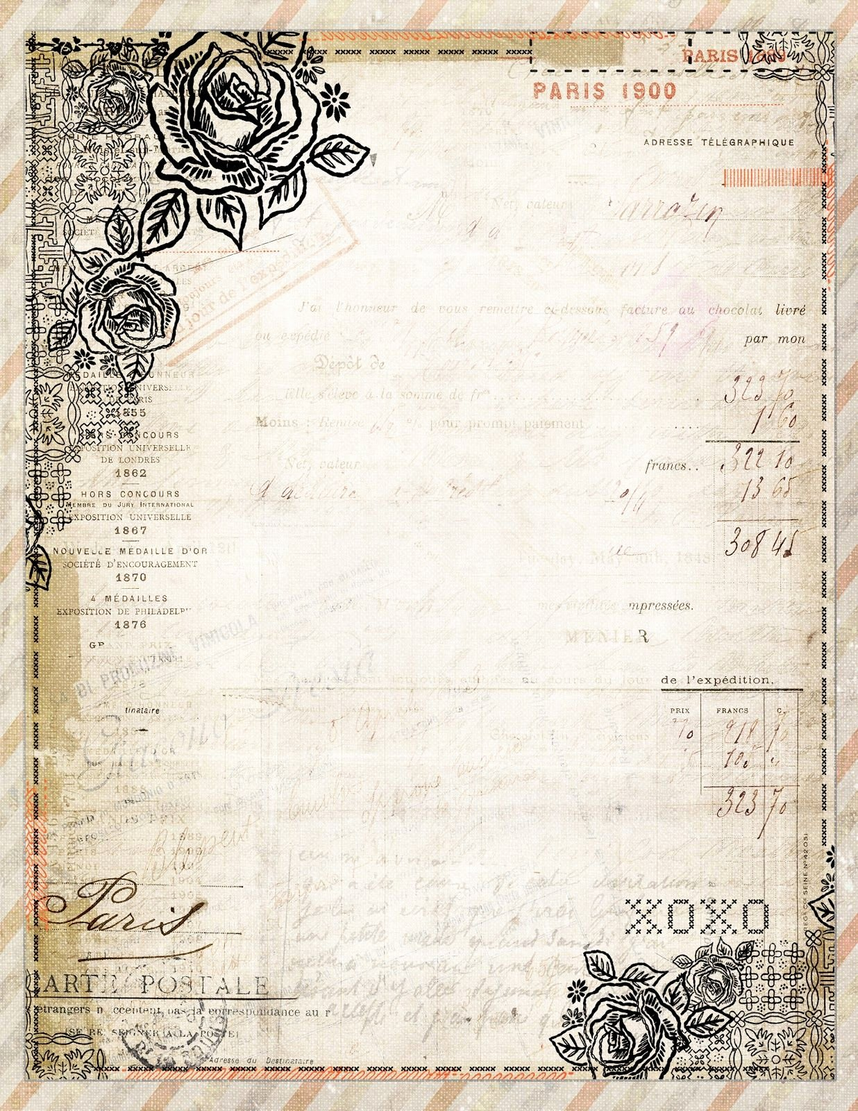 Free Printable Stationery Pdf Best Of Free to Download Printable Vintage Style French