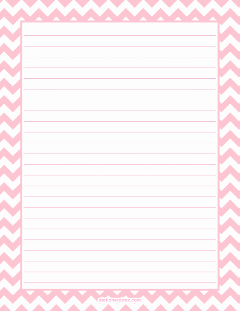 Free Printable Stationery Pdf Fresh Printable Pink Chevron Stationery