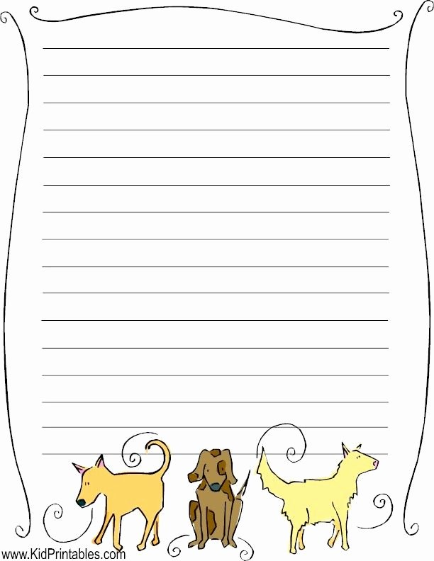 Free Printable Stationery Pdf Unique Printable Dogs Stationery Fun Kid Printables