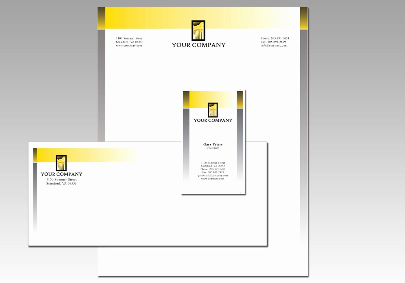 5341 free stationery design template