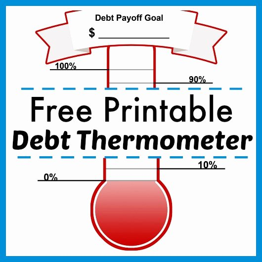 Free Printable thermometer Goal Chart Awesome Free Printable Debt thermometer