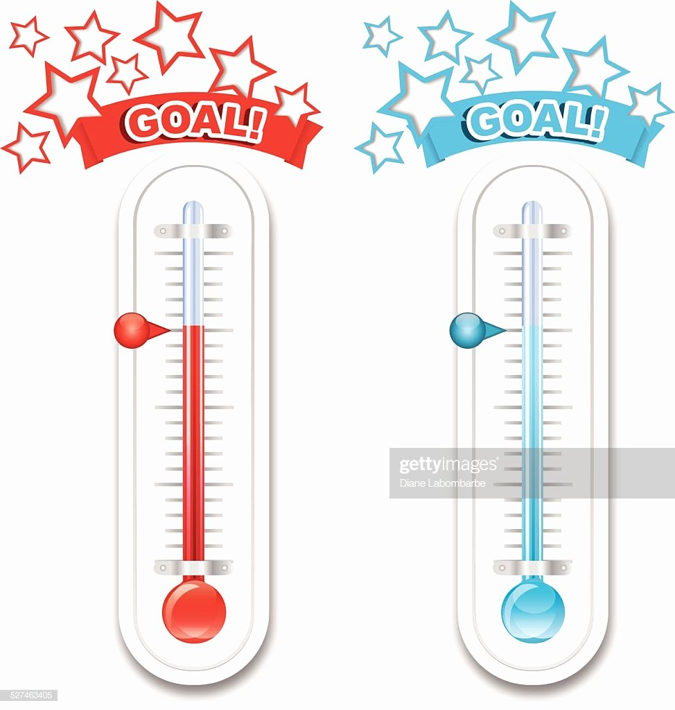 Free Printable thermometer Goal Chart Beautiful Fundraiser Goal thermometers Vector Art