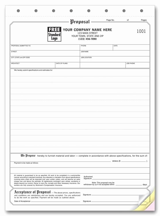 Free Proposal Template Word Fresh 5 Proposal form Templates formats Examples In Word Excel