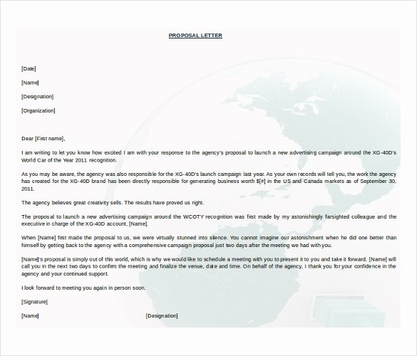 Free Proposal Template Word Lovely 31 Proposal Templates Doc Pdf
