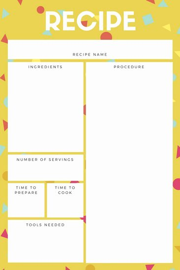 Free Recipe Templates for Microsoft Word Luxury Customize 9 482 Recipe Card Templates Online Canva