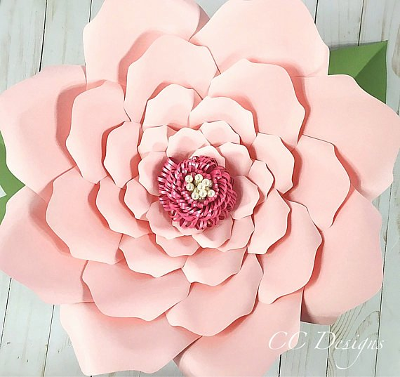 printable paper flower templates giant