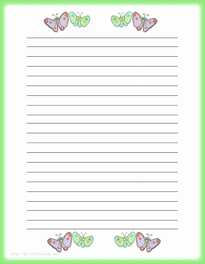 Free Stationery Paper Templates Awesome Primary Writing Paper