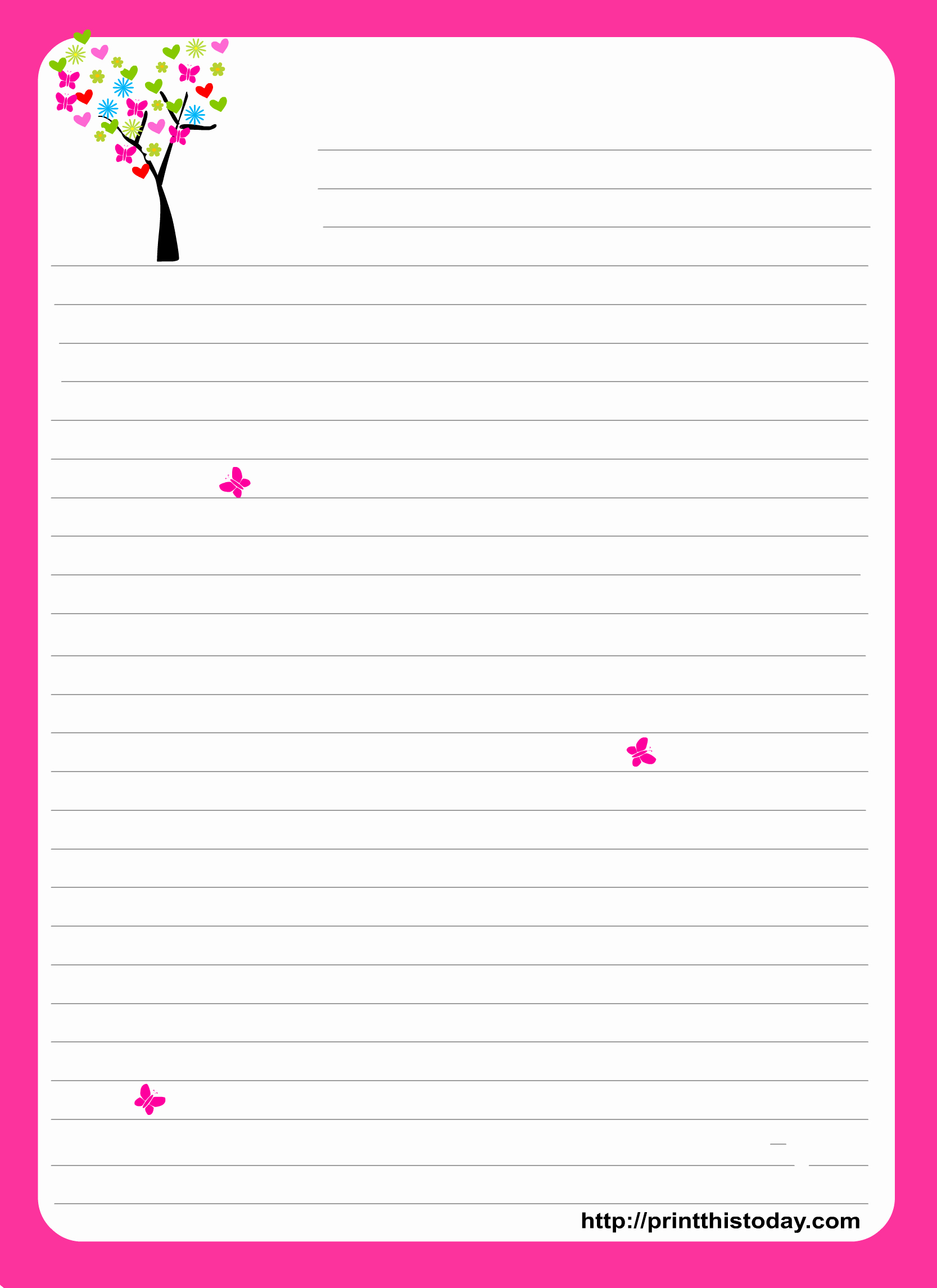 Free Stationery Paper Templates New Love Letter Pad Stationery