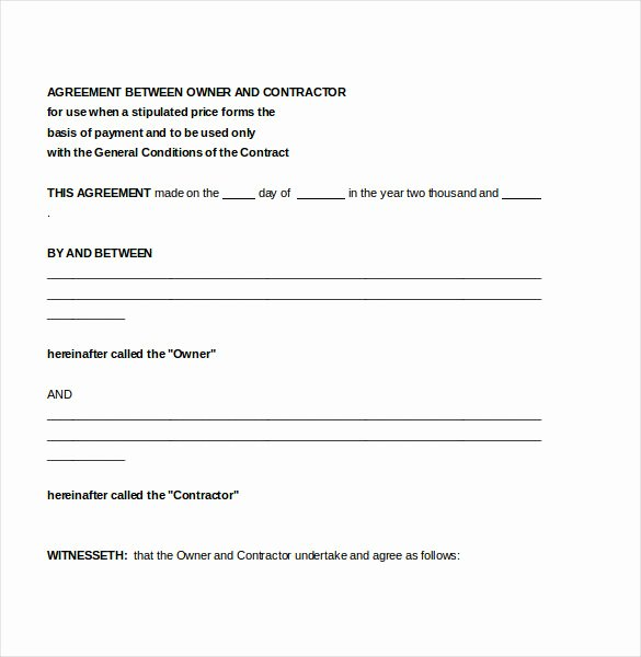 Free Subcontractor Agreement Template Word Unique Free Independent Contractor Agreement form Download
