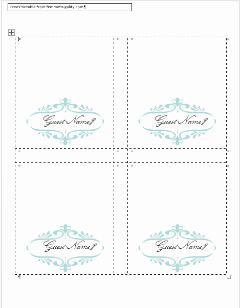 Free Table Number Templates 4x6 Elegant How to Make Your Own Place Cards for Free with Word and