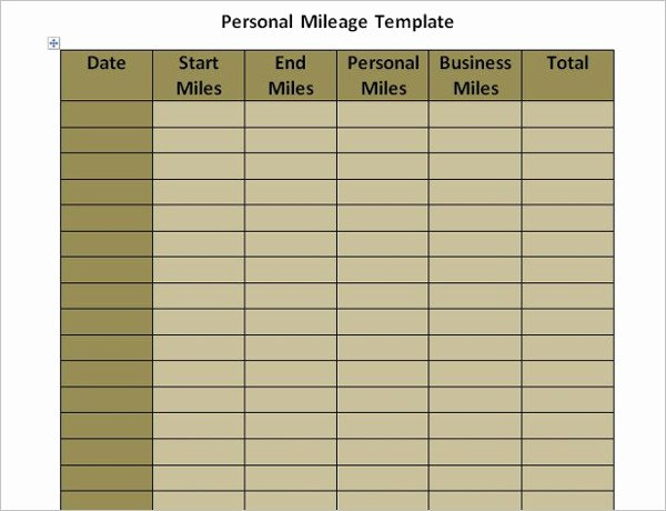 Free Truckers Log Book Template Fresh 44 Mileage Log Templates Free Word Excel Pdf format