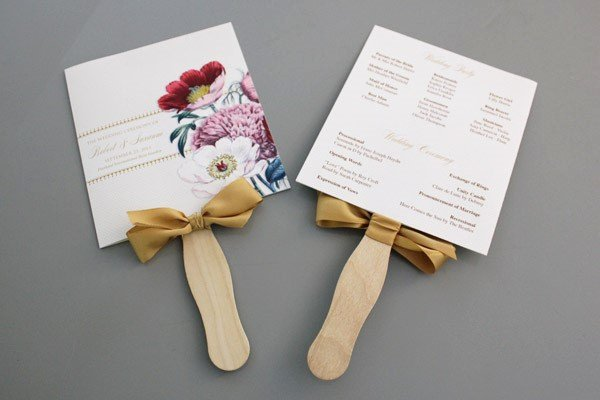 Free Wedding Program Fan Templates Elegant A Round Up Of Free Wedding Fan Programs B Lovely events