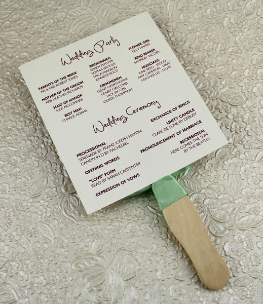 Free Wedding Program Fan Templates Fresh Wedding Program Paddle Fan Template – Matelasse Design