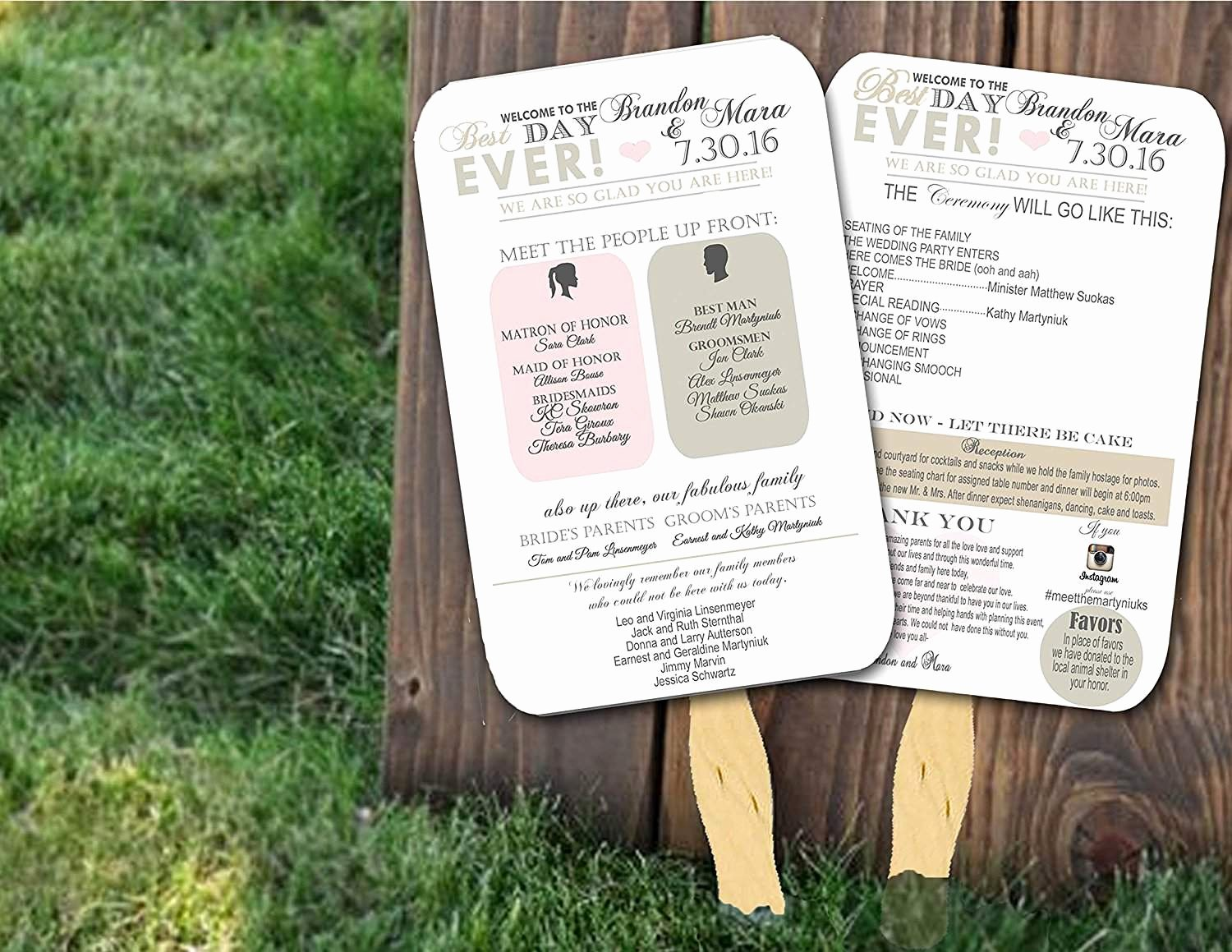 Free Wedding Program Fan Templates Inspirational top 10 Best Wedding Programs to Buy Line