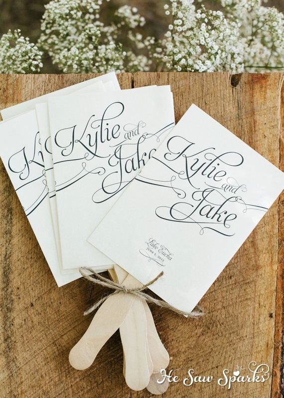 Free Wedding Program Fan Templates Lovely Printable Paddle Fan Program Diy with Proof Via Etsy