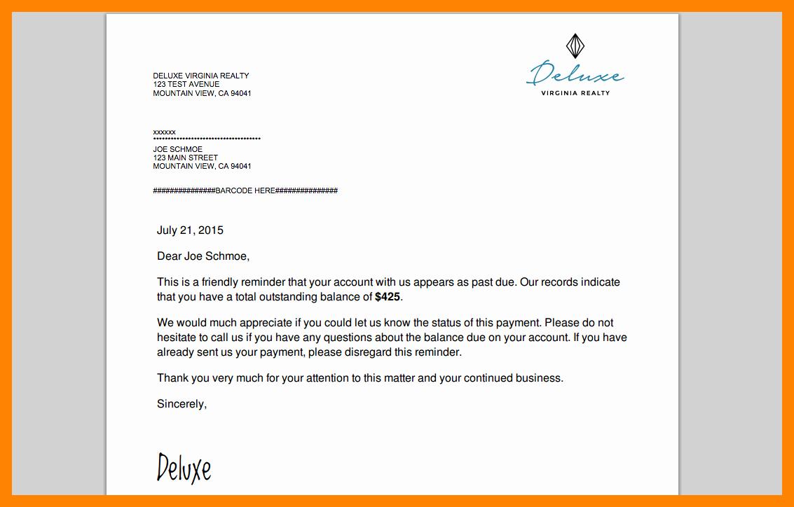 5 friendly payment reminder letter samples