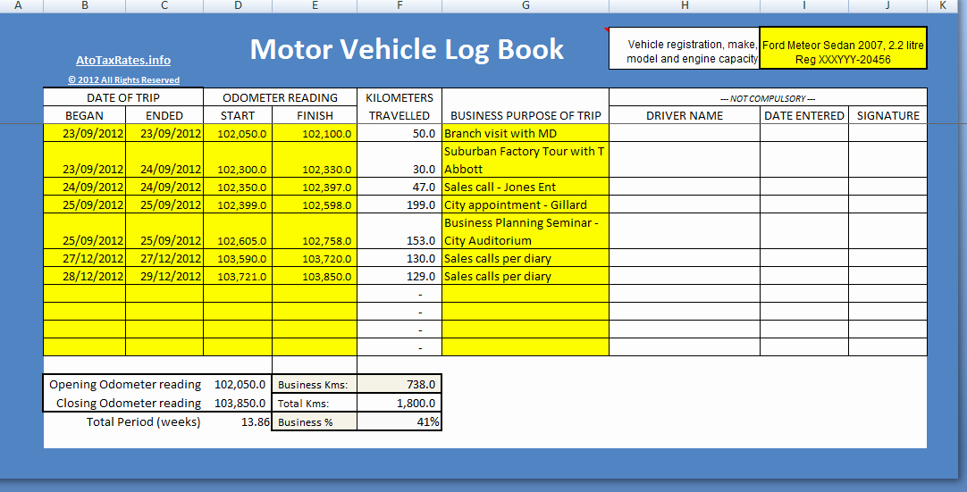 Fuel Log Book Template Excel Awesome Log Book Vehicle atotaxratesfo