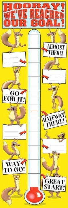 Fundraising Goal Chart Template Lovely 27 Best Fundraising thermometers and Goal Charts Images On