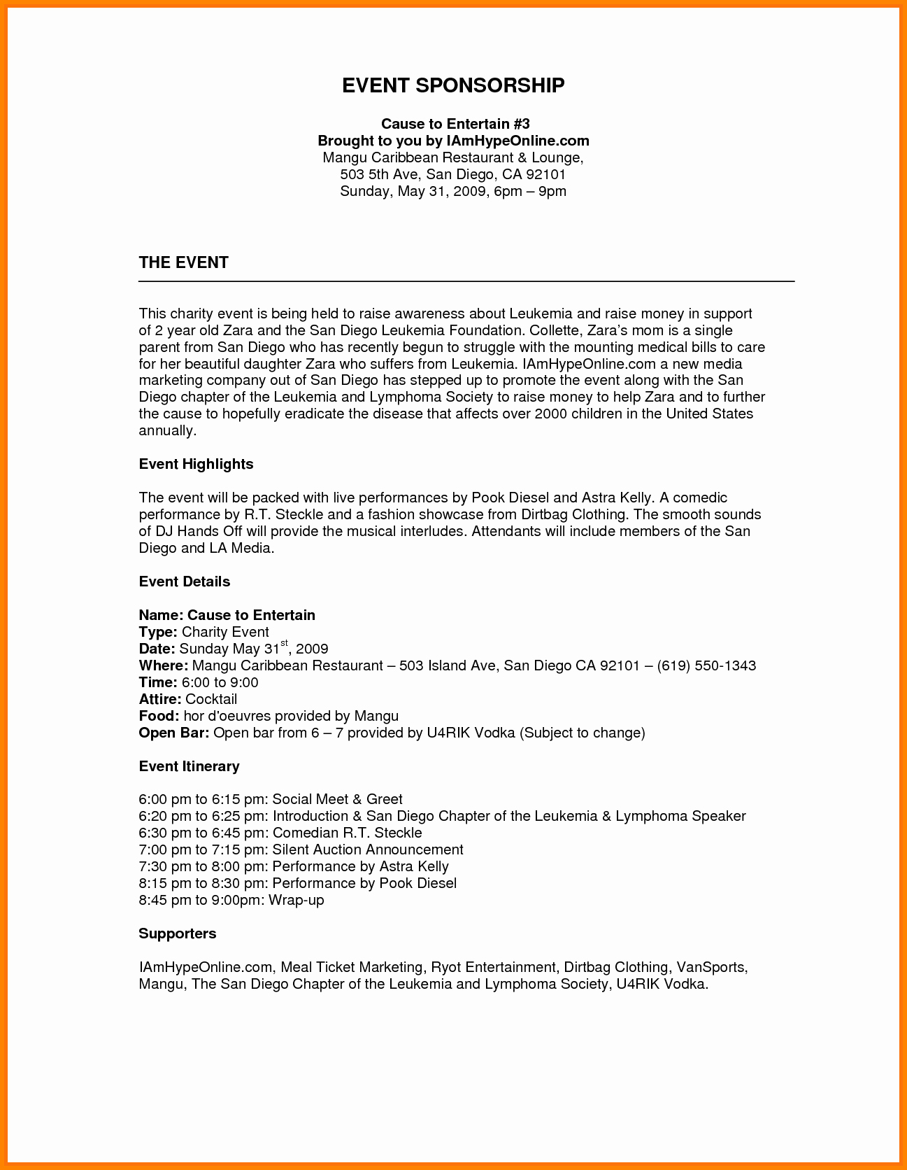 Fundraising Plan Template Free Beautiful Image Result for Sponsorship Proposal Template