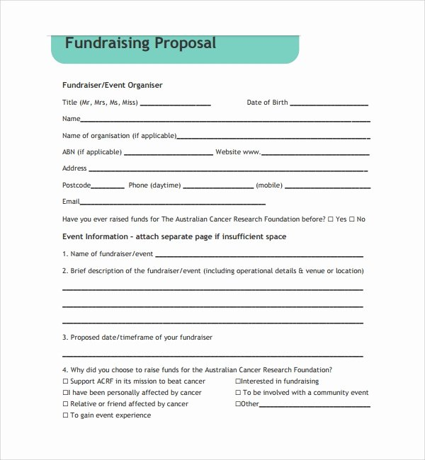 Fundraising Plan Template Free Fresh 11 Fundraising Proposal Templates