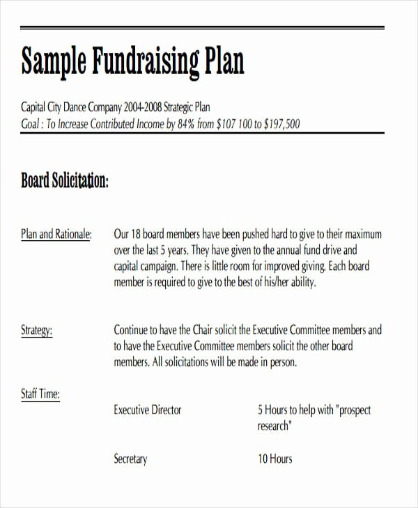 Fundraising Plan Template Free Lovely 19 event Plan Templates In Pdf