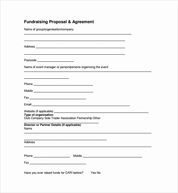 Fundraising Plan Template Free Unique 11 Fundraising Proposal Templates