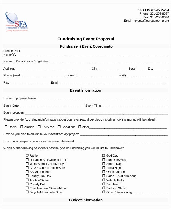 Fundraising Plan Template Free Unique 8 Fundraising event Proposal Templates Word Pdf Pages