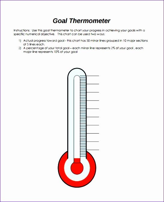 Fundraising thermometer Template Powerpoint Elegant 9 Fundraising thermometer Template Excel Exceltemplates