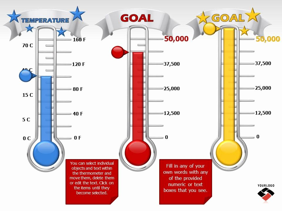 Fundraising thermometer Template Powerpoint Inspirational Goal Meter Burst Presentation Clipart Great Clipart