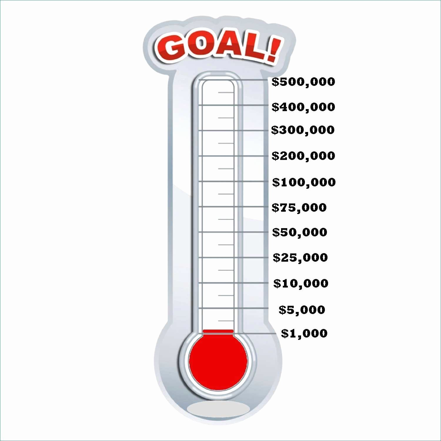 Fundraising thermometer Template Powerpoint Luxury Goal thermometer Template Professional Chart Excel
