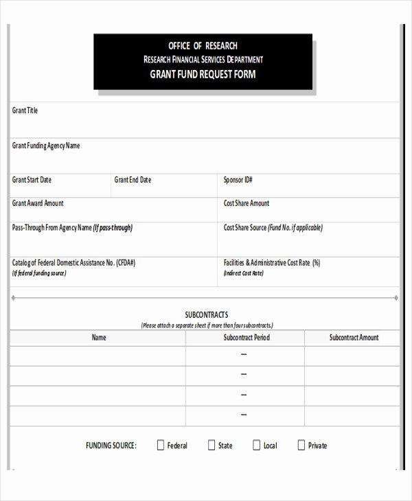 Funds Request form Template Elegant Sample Funding Request form 10 Examples In Word Pdf