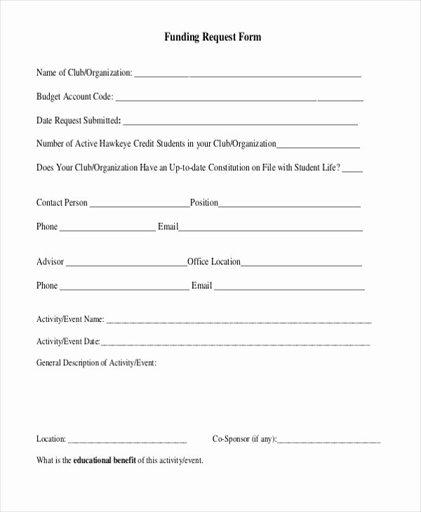 Funds Request form Template Luxury Sample Request forms 11 Free Documents In Pdf