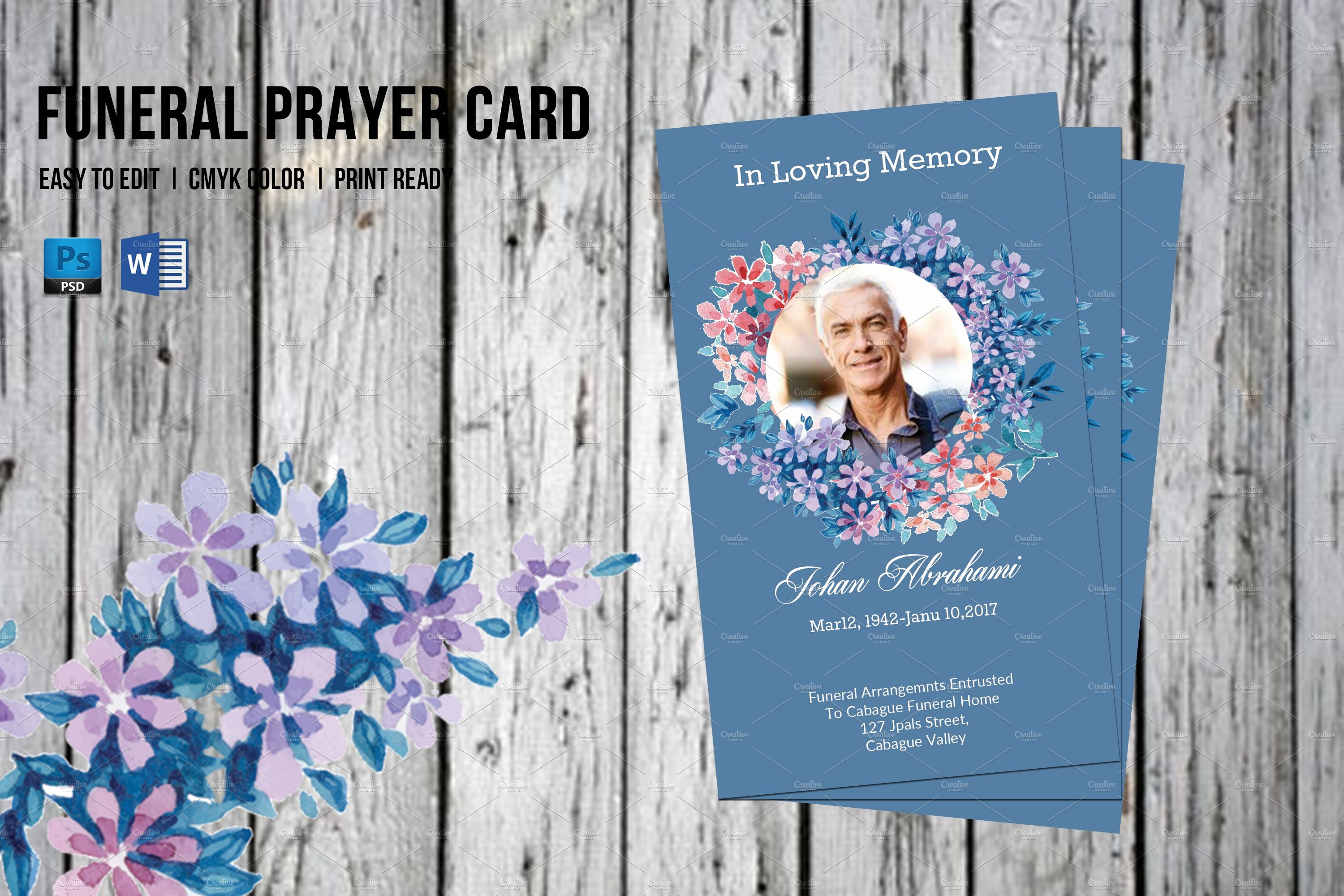 Funeral Prayer Cards Templates Fresh Funeral Prayer Card Template V555 Flyer Templates