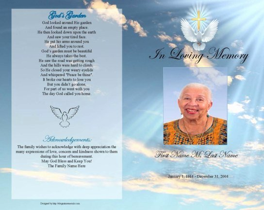 Funeral Program Templates Word Free Beautiful 6 Free Funeral Program Templates Microsoft Word Website