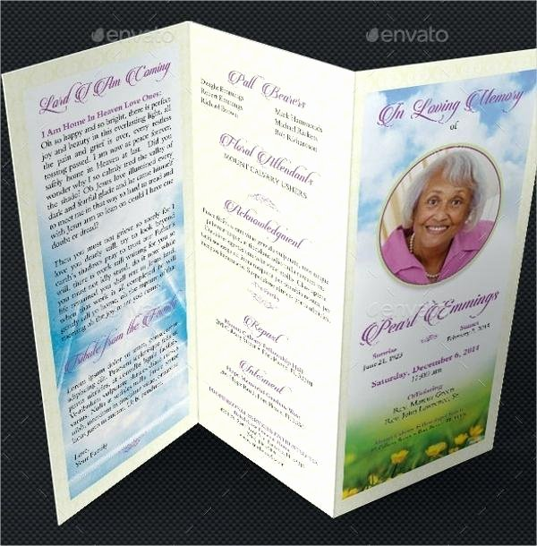 Funeral Program Templates Word Free Beautiful Free Funeral Program Template Microsoft