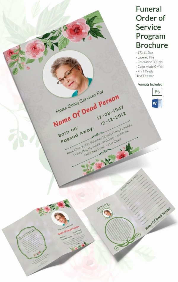 Funeral Program Templates Word Free Best Of 31 Funeral Program Templates – Free Word Pdf Psd