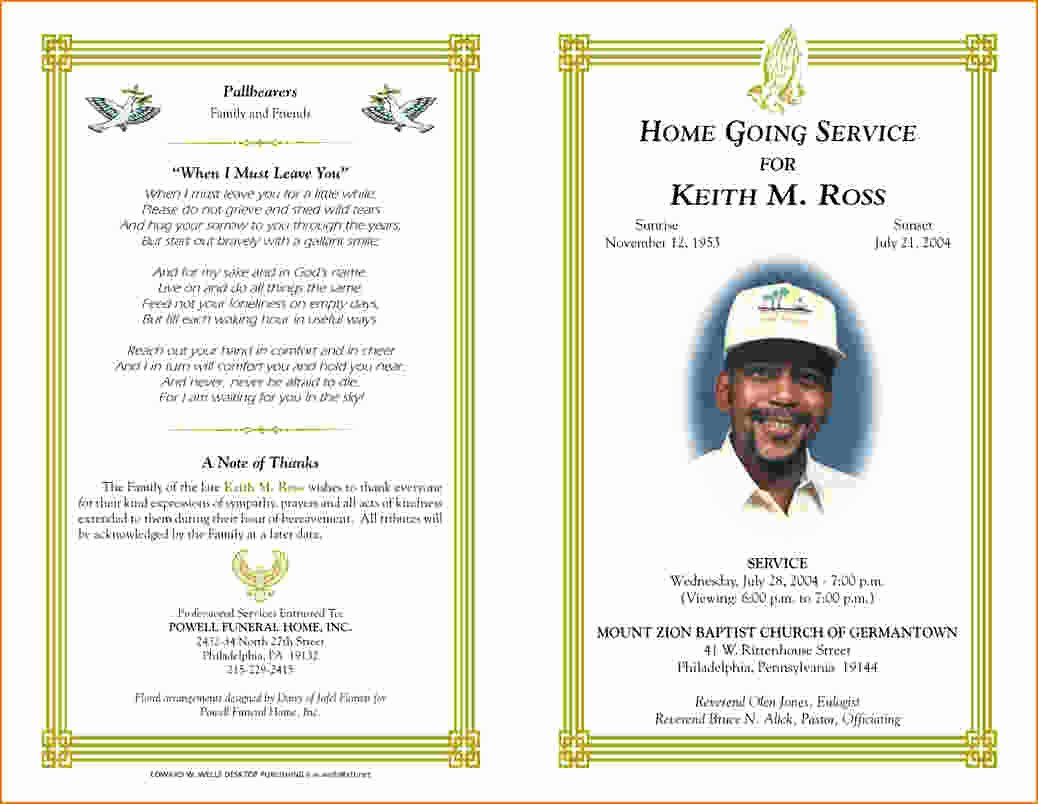 Funeral Program Templates Word Free Best Of 5 Free Funeral Program Template for Word
