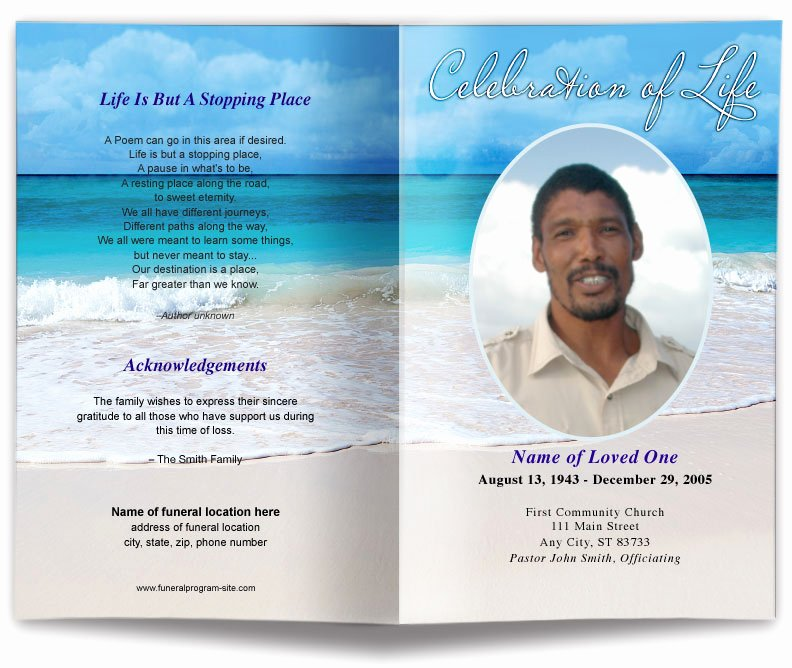 Funeral Program Templates Word Free Best Of Free Editable Funeral Program Template