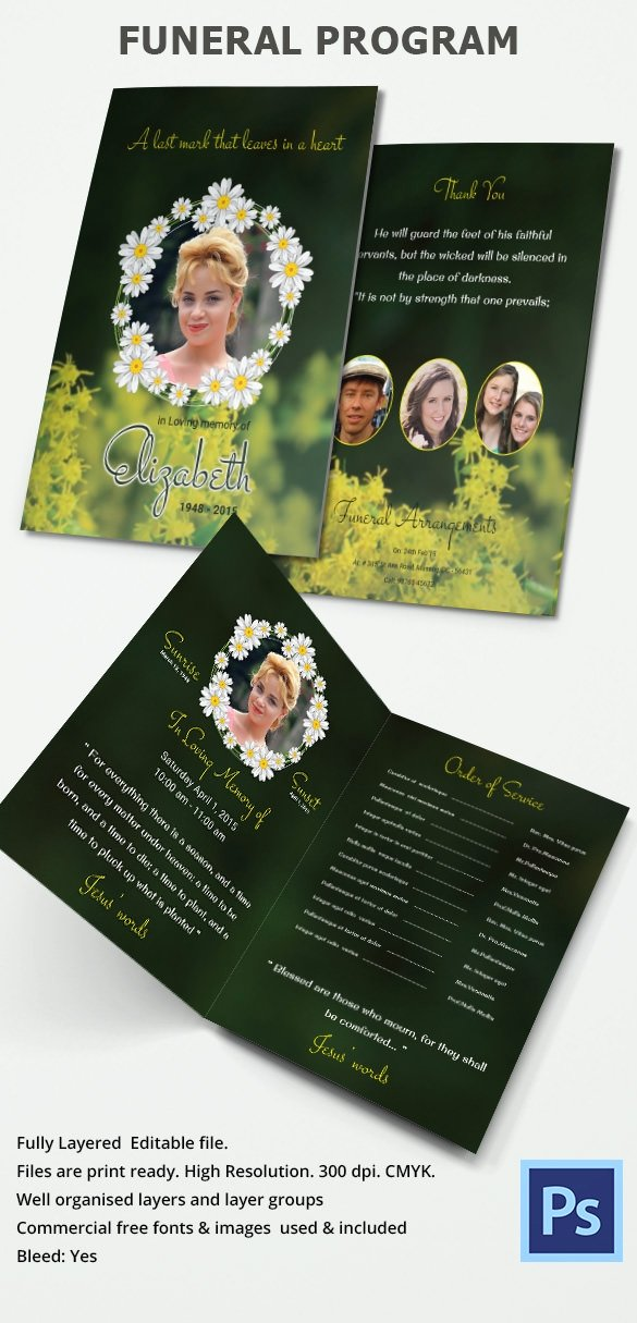Funeral Program Templates Word Free Lovely Funeral Program Template 30 Download Free Documents In