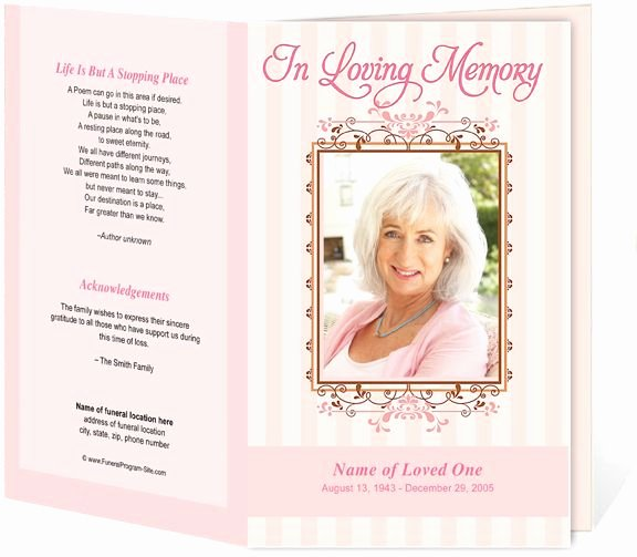 Funeral Program Templates Word Free Luxury 1000 Images About Creative Memorials with Funeral Program