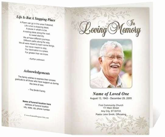 Funeral Program Templates Word Free New 21 Free Free Funeral Program Template Word Excel formats