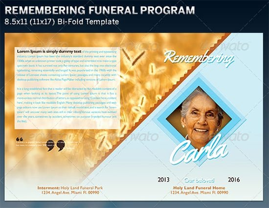 Funeral Program Templates Word Free New 7 Free Funeral Program Templates Excel Pdf formats